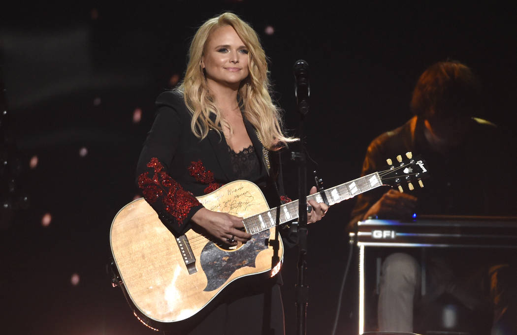 """Miranda Lambert performs """"Keeper of the Flame"""" at the 53rd annual Academy of Country Music Awards at the MGM Grand Garden in Las Vegas in April 2018. (Photo by Chris Pizzello/Invision/AP)"""