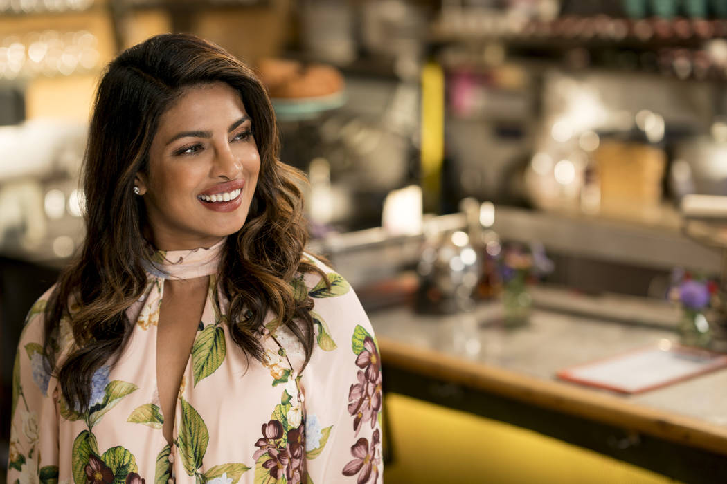 "This image released by Warner Bros. Pictures shows Priyanka Chopra in a scene from the film, ""Isn't It Romantic."" (Michael Parmelee/Warner Bros. Pictures via AP)"