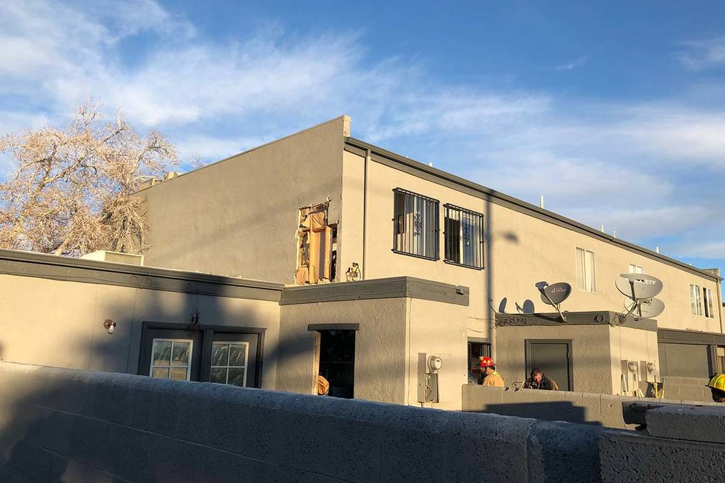 The Las Vegas Fire Department responded to a fire in an apartment in the 1400 block of North Jones Boulevard, near Vegas Drive, Monday, Feb. 18, 2019. (Las Vegas Fire Department)