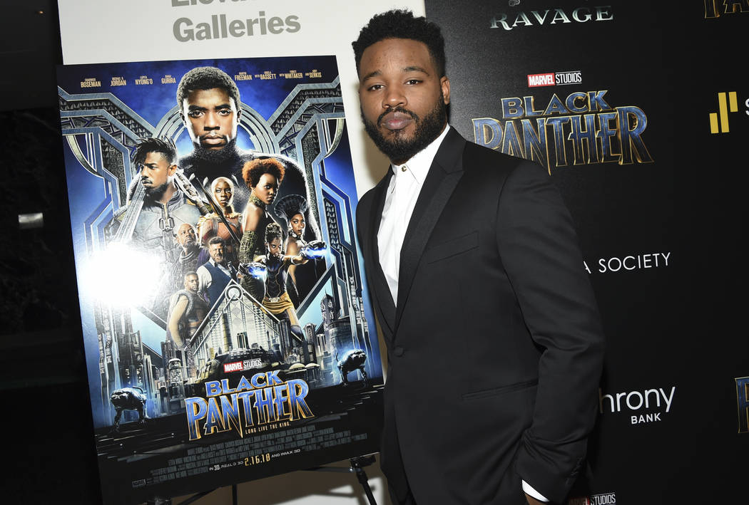 """Director Ryan Coogler attends a special screening of """"Black Panther"""" in New York on Feb. 13, 2018. As Hollywood's awards season properly gets under way, """"Black Panther"""" is poised to be the f ..."""