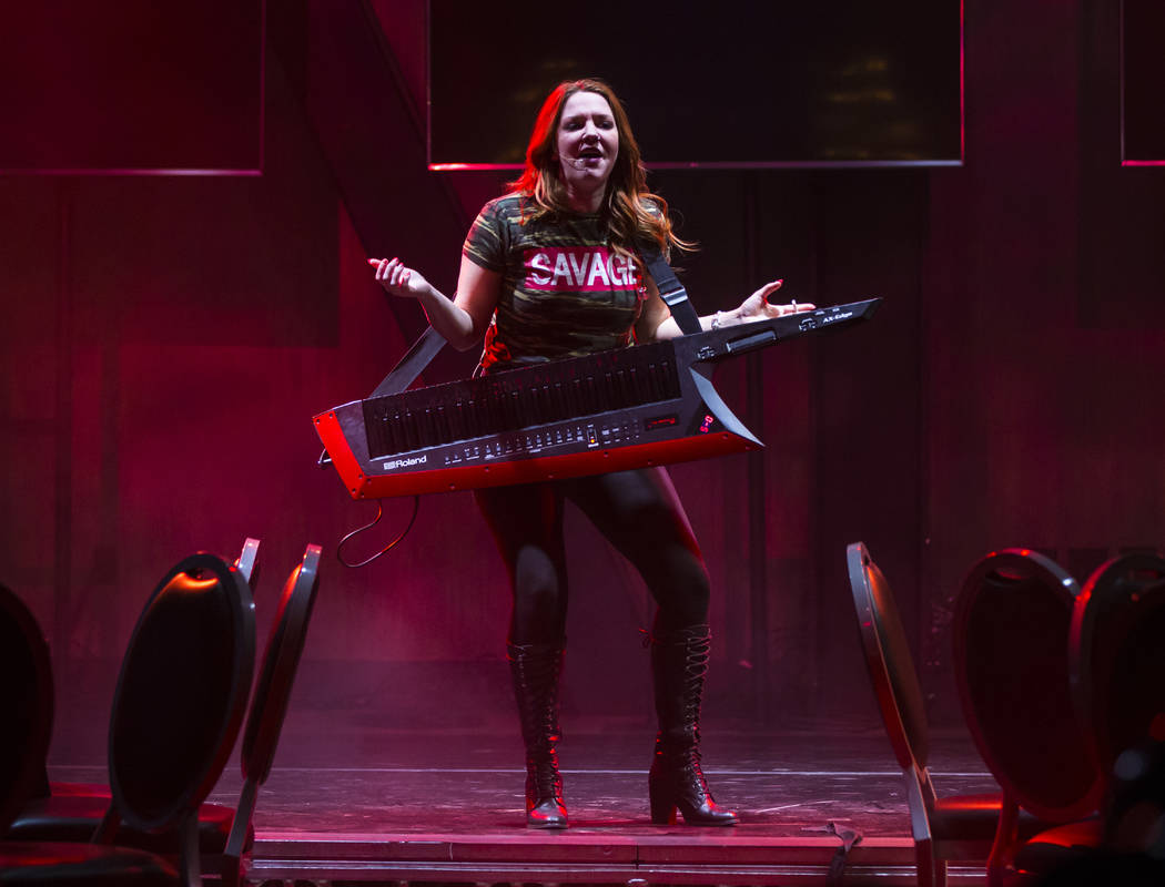 "Sarah Hester Ross performs during a dress rehearsal of ""Ester Goldberg's Totally Outrageous Brunch,"" slated to open Feb. 23 at The Sayers Club at SLS Las Vegas, Tuesday, Feb. 19, 2019. (Chase Stev ..."