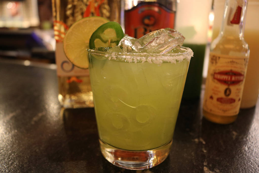 The Hot Damn Margarita at Beaumont's Southern Kitchen inside Texas Station. Janna Karel Las Vegas Review-Journal