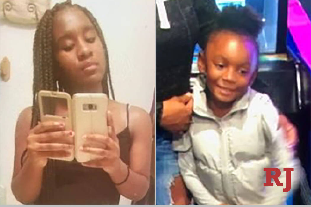Las Vegas police are asking for the public's help in finding Ja'Miya Marry, 13, and her sister Kaydence Jackson, 5, who were last seen about 1 p.m. on Monday, Feb. 18, 2019 near South Mountain ...