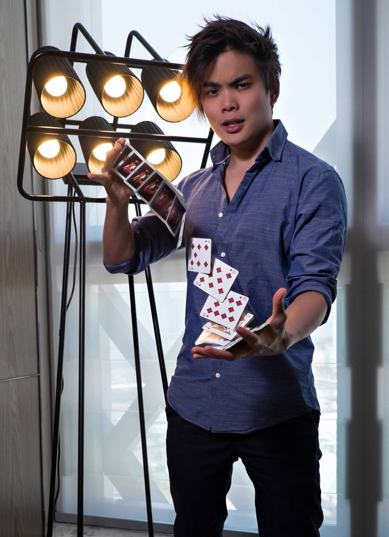 "Master magician Shin Lim, champion of Season 13 of ""America's Got Talent,"" headlines Terry Fator Theater at The Mirage this summer. (Louis Aslarona)"