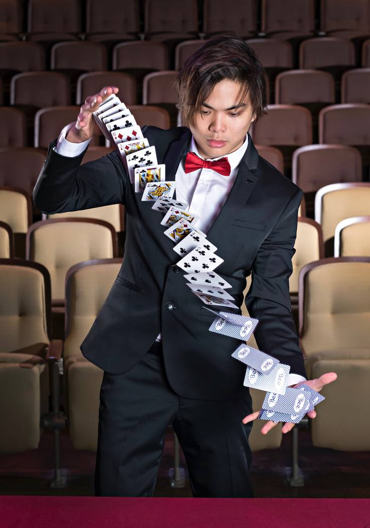"Master magician Shin Lim, champion of Season 14 of ""America's Got Talent,"" headlines Terry Fator Theater at The Mirage this summer. (Louis Aslarona)"
