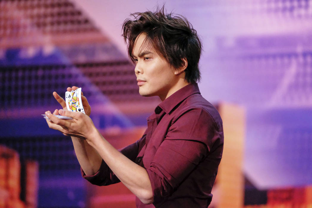 "Shin Lim is shown auditioning for ""America's Got Talent"" Season 13. He won the ""Champions"" spin-off of the show on Monday, Feb. 18, 2019. (Trae Patton/NBC)"