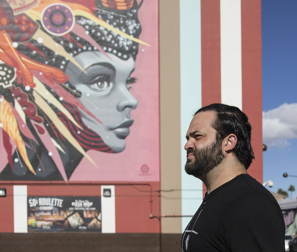 Owner/restaurateur Marc Marrone is in a still-unnamed rooftop collaboration with Fukuburger's Colin Fukunaga at Las Vegas Boulevard and Carson Avenue in downtown Las Vegas. (Benjamin Hager Revie ...