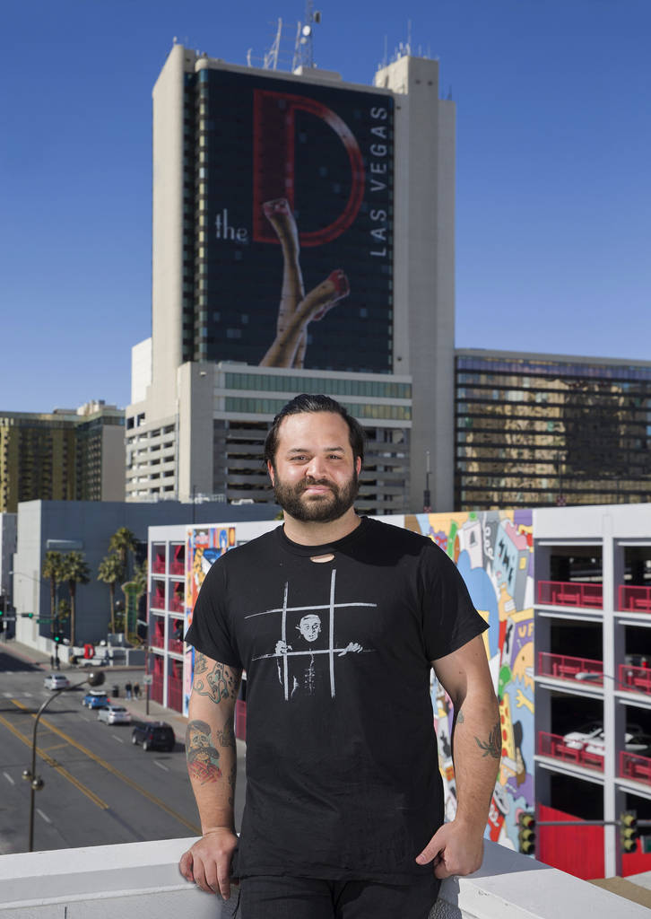 Owner/restaurateur Marc Marrone on the rooftop of a future restaurant he's developing at 201 Las Vegas Blvd. South on Monday, Feb. 18, 2019, in Las Vegas. (Benjamin Hager Review-Journal) @Benjamin ...