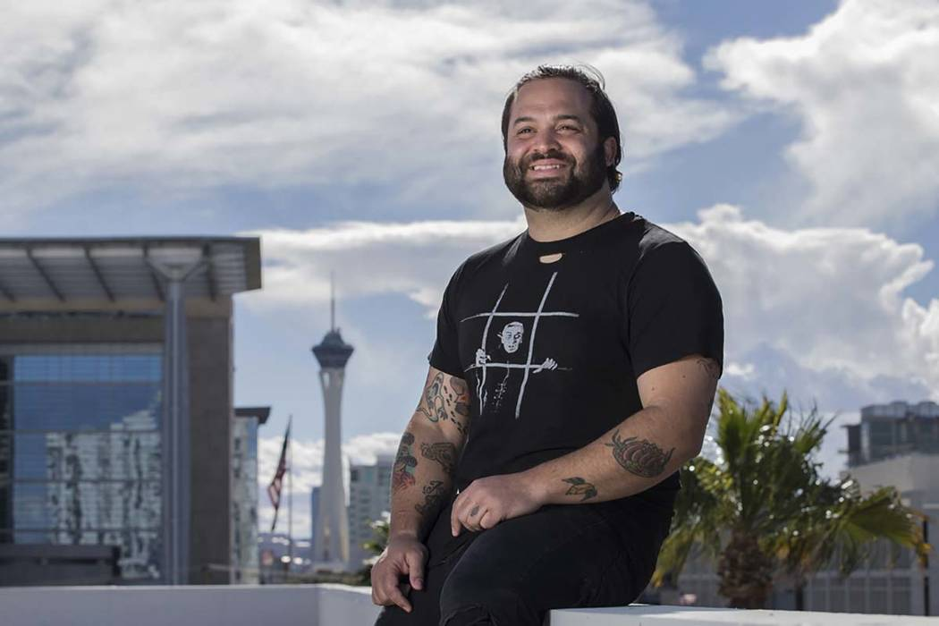 Owner/restaurateur Marc Marrone on the rooftop of a future restaurant he's developing at 201 Las Vegas Blvd. South on Monday, Feb. 18, 2019, in downtown Las Vegas. (Benjamin Hager Review-Journal) ...