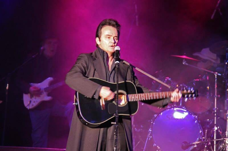 "Peter Pavone as Johnny Cash in ""Vegas Goes Country,"" opening at V Theater at Miracle Mile Shops at Planet Hollywood. (Kurt Brown)"