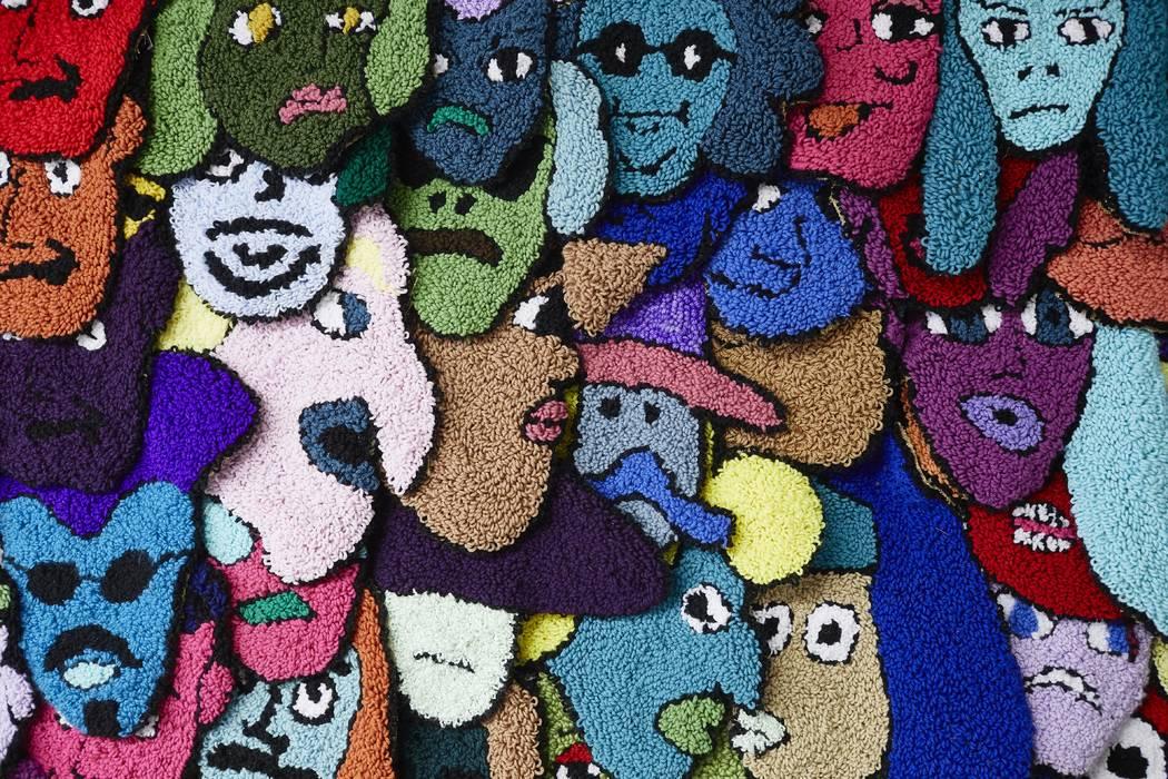 Current MFA graduate student, Holly Lay working on fabric art. January 10, 2019 (Josh Hawkins/UNLV Creative Services)