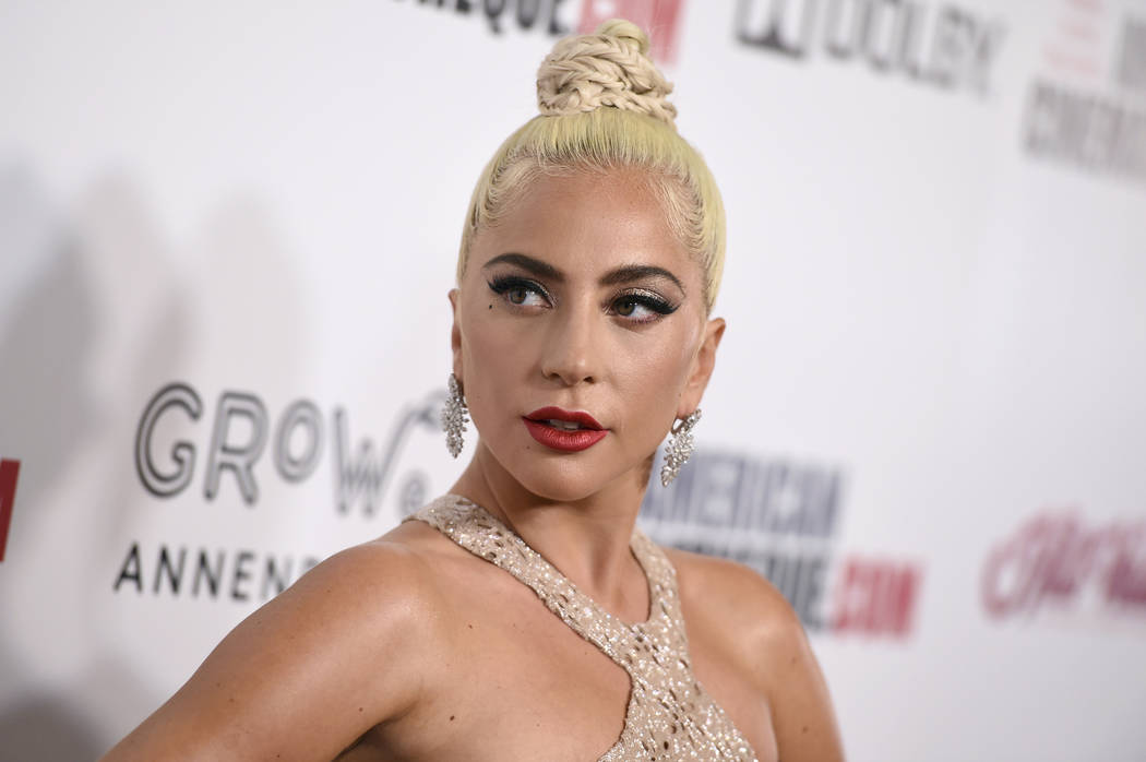 In this Nov. 29, 2018 file photo, Lady Gaga arrives at the American Cinematheque Award ceremony honoring Bradley Cooper in Beverly Hills, Calif. (Photo by Jordan Strauss/Invision/AP, File)