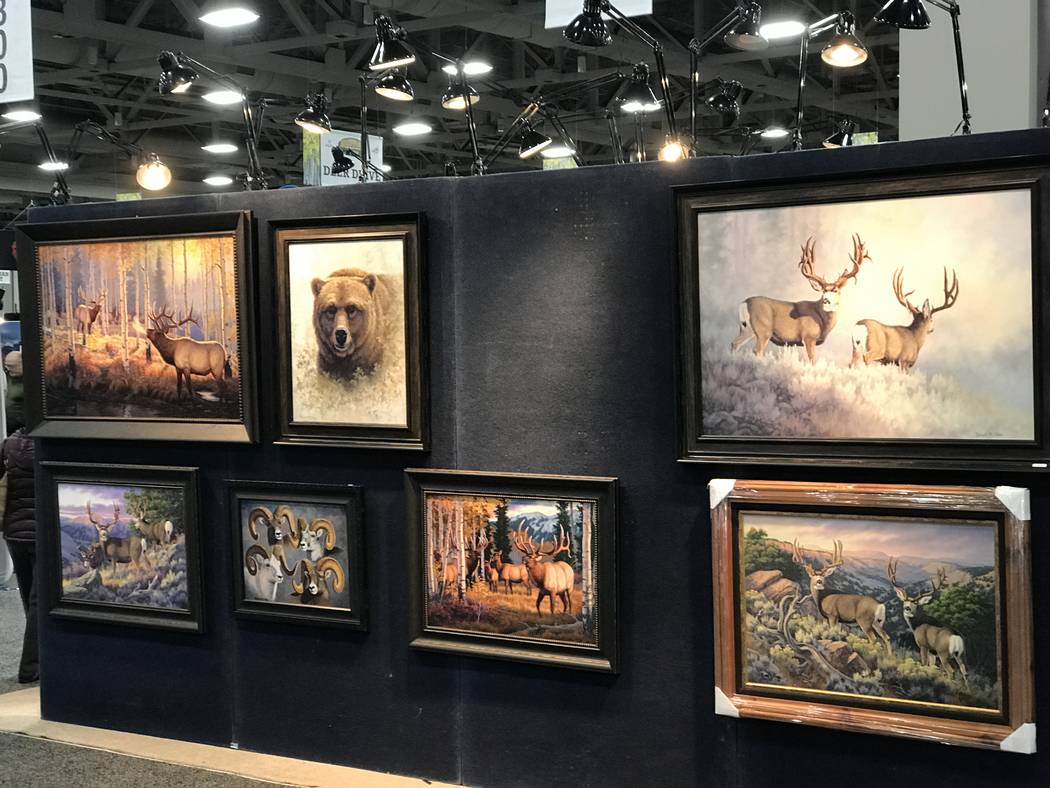 Wildlife art is always popular at hunting and fishing expos. Things were no different at the 2019 Western Hunting & Conservation Expo in Salt Lake City, Utah. (Doug Nielsen)