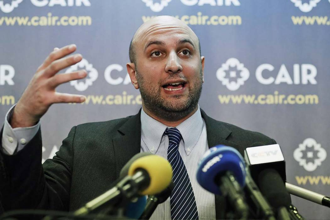 In this Jan. 30, 2017, file photo, attorney Gadeir Abbas speaks during a news conference at the Council on American-Islamic Relations (CAIR) in Washington. The federal government has acknowledged ...