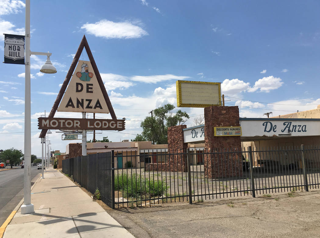 FILE - In this June 24, 2016, file photo, the closed De Anza Motor Lodge sits along Route 66 in Albuquerque, N.M., and recently has been highlighted as one of the few places that allowed black tra ...