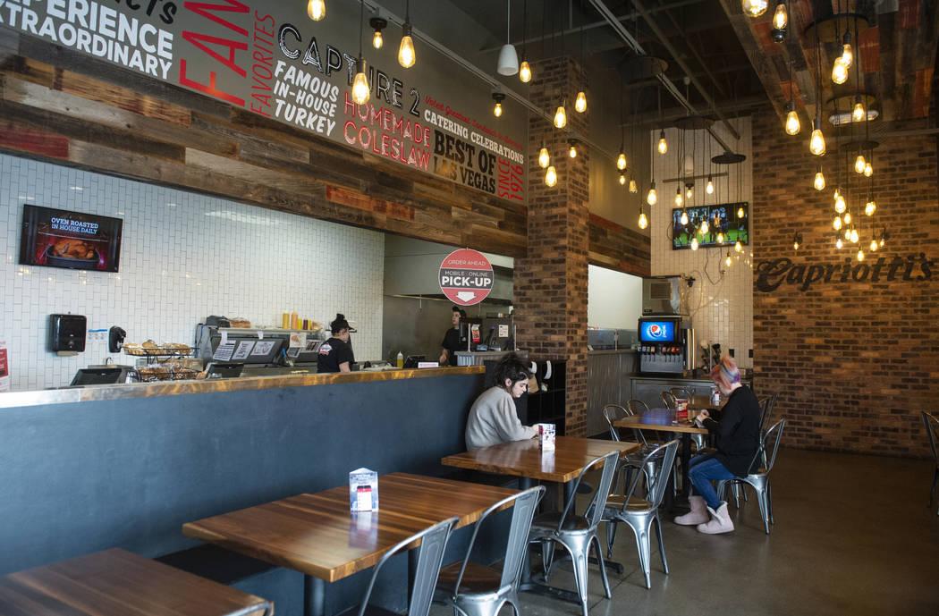 Inside Capriotti's Sandwich Shop in Las Vegas, Wednesday, Feb. 20, 2019. (Caroline Brehman/Las Vegas Review-Journal) @carolinebrehman