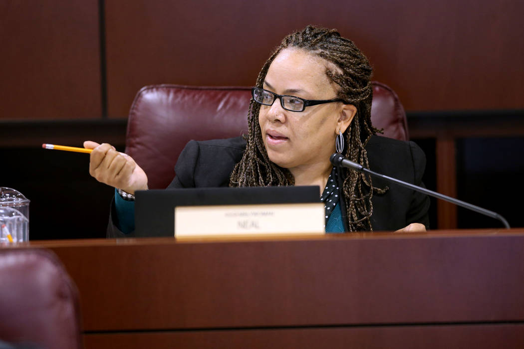 Assemblywoman Dina Neal, D-North Las Vegas, presides over the Taxation Committee in the Legislative Building in Carson City Tuesday, Feb. 5, 2019. (K.M. Cannon/Las Vegas Review-Journal) @KMCannonPhoto