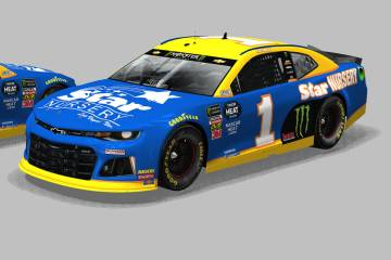 Kurt Busch will drive a car featuring the colors of former sponsor Star Nursery in Sunday's NASCAR Pennzoil 400 at Las Vegas Motor Speedway (Courtesy)