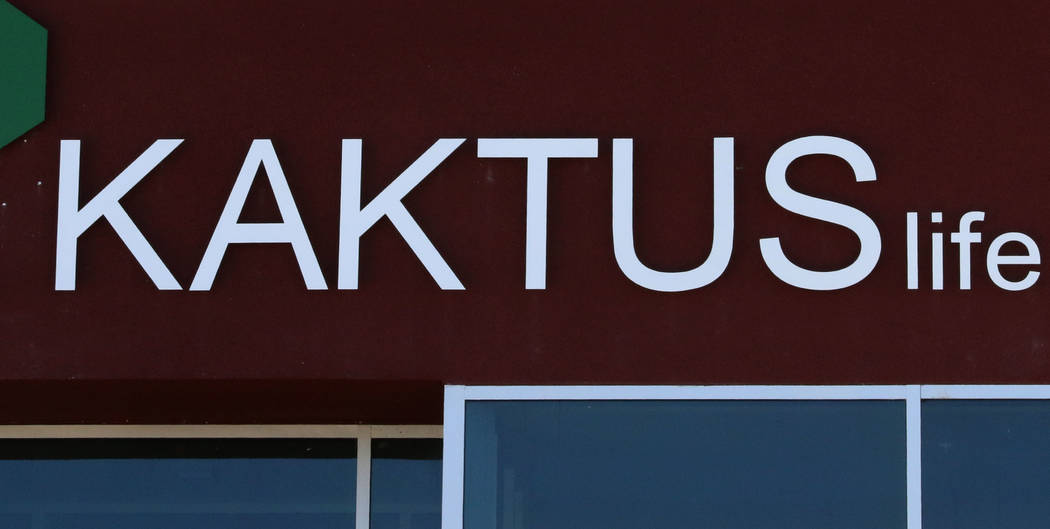 Kaktus Life, a luxury apartment building at 10650 Dean Martin Drive in Las Vegas, should open to tenants in April. (Bizuayehu Tesfaye/Las Vegas Review-Journal) @bizutesfaye