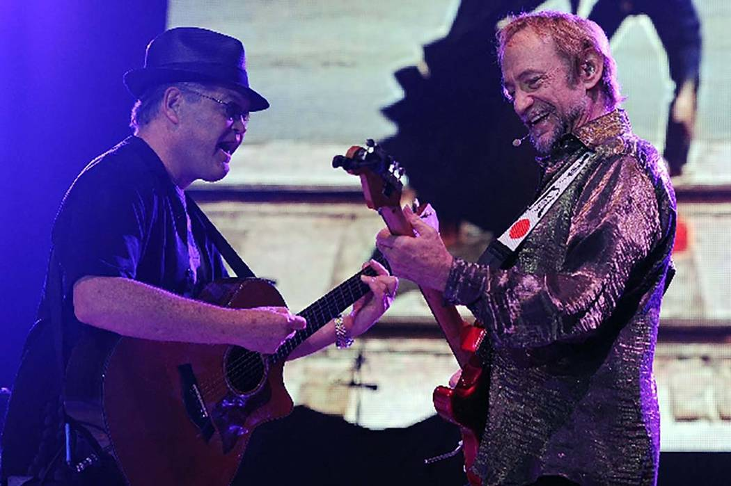 Peter Tork of The Monkees performs during the Mid Summers Night Tour at the Mizner Park Amphitheater on Saturday, July 27, 2013, in Boca Raton, Florida. Tork died Thursday, Feb. 21, 2019. (Courtesy)
