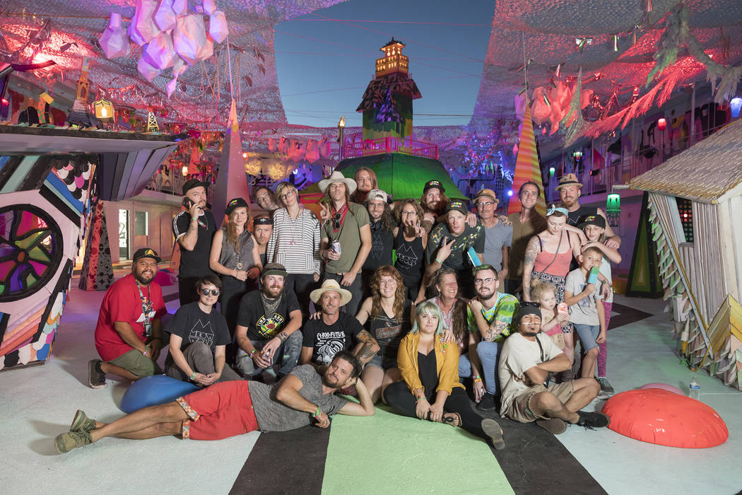 Meow Wolf's art team at Life is Beautiful 2017 (Lindsey Kennedy/Meow Wolf)