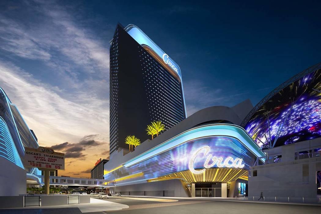 Rendering of Circa, a casino-hotel resort being built in downtown Las Vegas by DerekandGregStevens. (Circa Las Vegas)