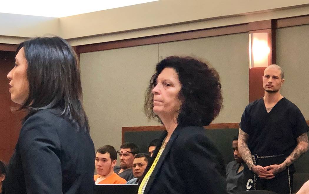 Prosecutors look on as Nadin Hiko, right, is sentenced to 10 to 25 years in prison on Feb. 21, 2019 for his role in the 2009 slaying of 16-year-old Aric Brill. (David Ferrara)