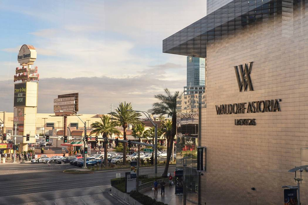 The Waldorf Astoria is home to some of the most expensive high-rise condo sales of the year in Las Vegas, Monday, Dec. 17, 2018. Caroline Brehman/Las Vegas Review-Journal