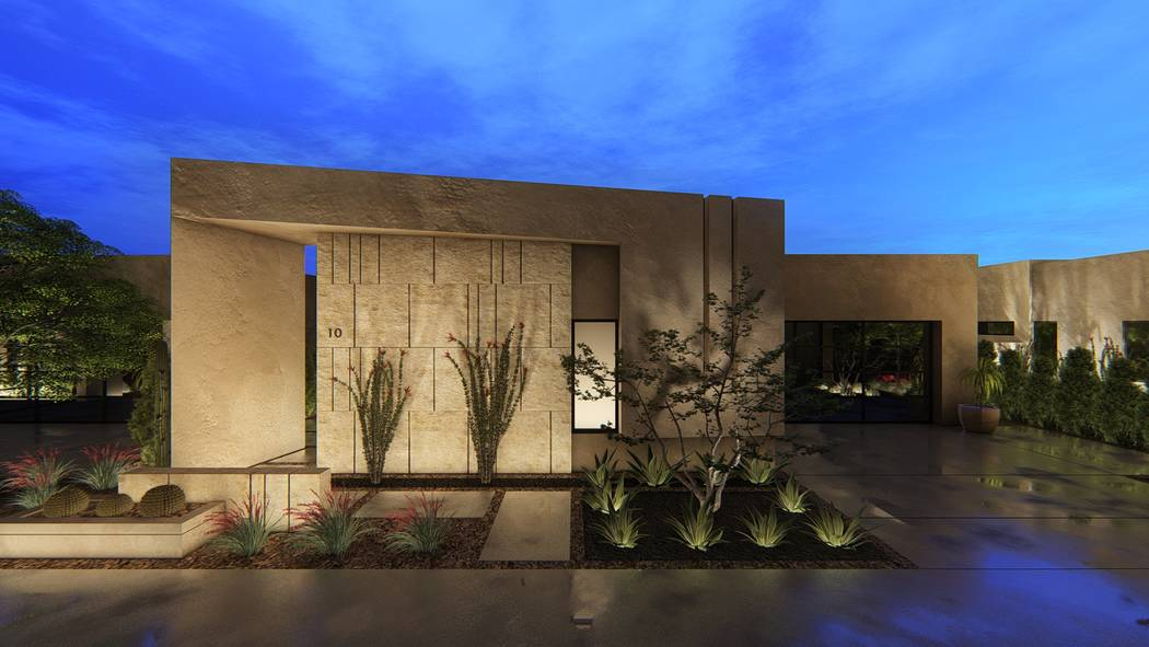 Luxury builder Blue Heron announced plans for a new community, Vantage, at Henderson's Lake Las Vegas. A rendering of one of its homes is seen here. (Blue Heron)