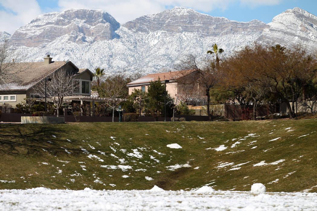 The view from Willows Park in Las Vegas, Friday, Feb. 22, 2019. (Erik Verduzco/Las Vegas Review-Journal) @Erik_Verduzco