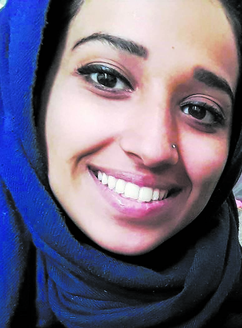 This undated image provided by attorney Hassan Shibly shows Hoda Muthana, an Alabama woman who left home to join the Islamic State after becoming radicalized online. Muthana realized she was wrong ...