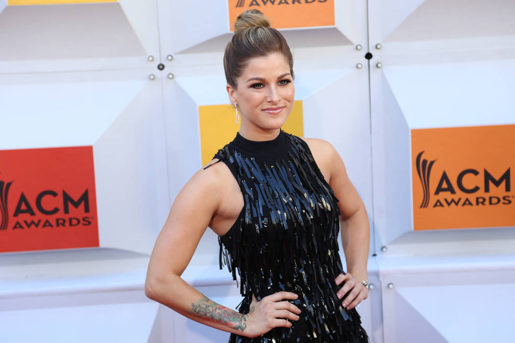 Cassadee Pope walks the red carpet at the 51st Academy of Country Music Awards Sunday, April 3, 2016, at the MGM Grand in Las Vegas. (Rachel Aston/Las Vegas Review-Journal) Follow @rookie__rae