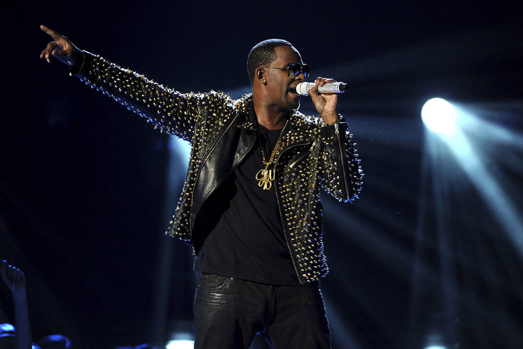 R. Kelly performs onstage at the BET Awards at the Nokia Theatre in Los Angeles in 2013. (Photo by Frank Micelotta/Invision/AP)
