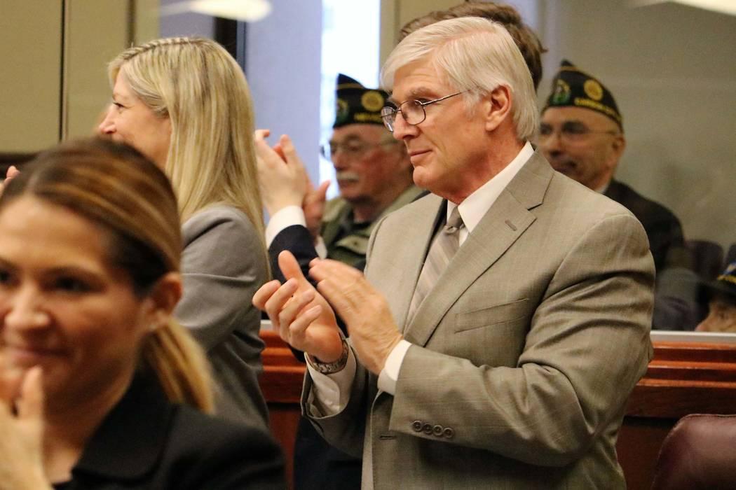 Assemblyman Skip Daly, D-Sparks, at the Legislature, March 15, 2017. (Victor Joecks/Las Vegas Review-Journal) @victorjoecks