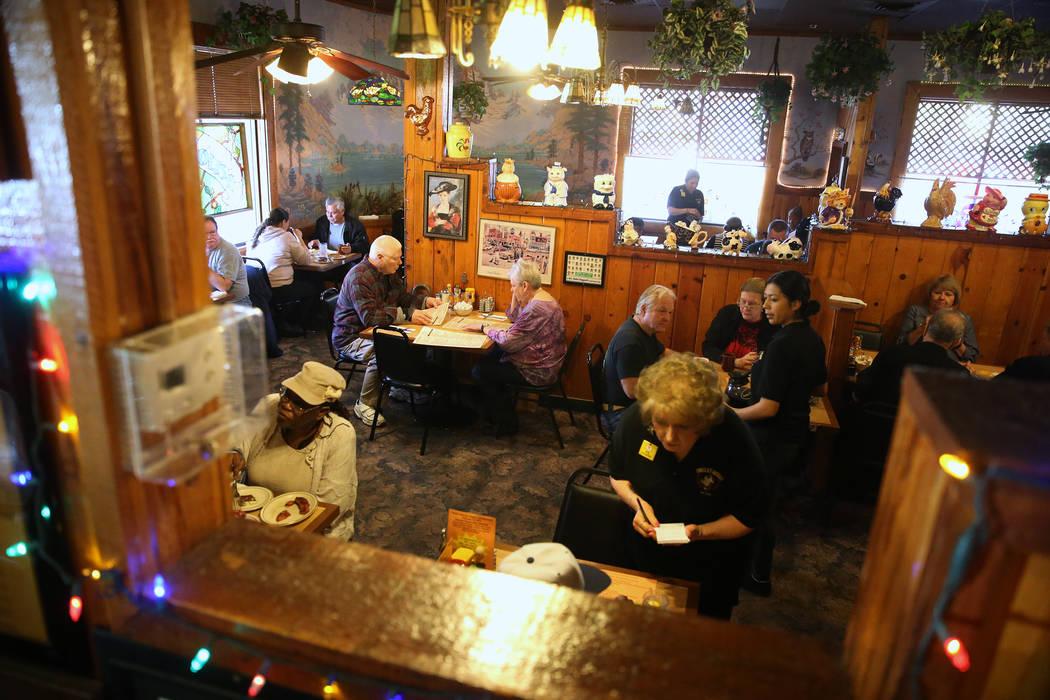 Customers dine at the Omelet House in Las Vegas, Friday, Feb. 1, 2019. (Erik Verduzco/Las Vegas Review-Journal) @Erik_Verduzco