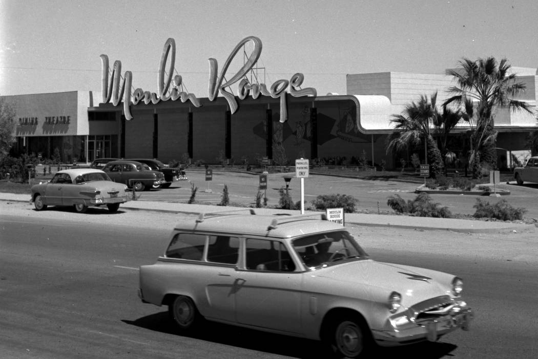 This May, 1955, photo shows Moulin Rouge in Las Vegas. ( Las Vegas News Bureau)