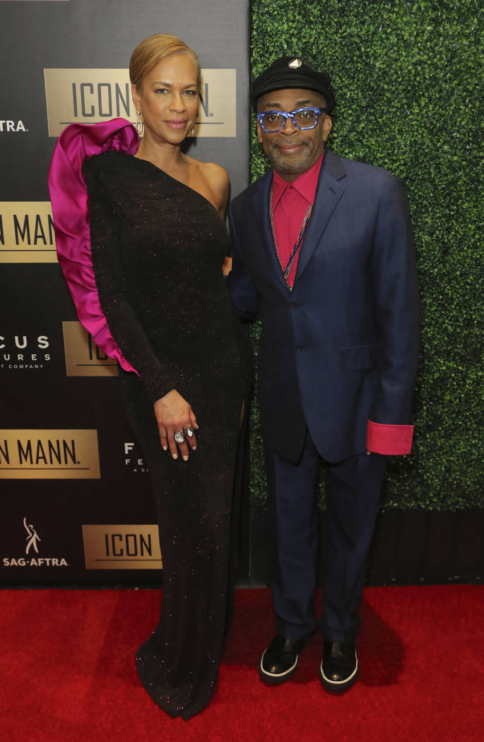 Tonya Lewis Lee, left, and Spike Lee arrive at the 7th Annual ICON MANN Pre-Oscar Dinner at the Waldorf Astoria on Thursday, Feb. 21, 2019, in Beverly Hills, Calif. (Photo by Willy Sanjuan/Invisio ...