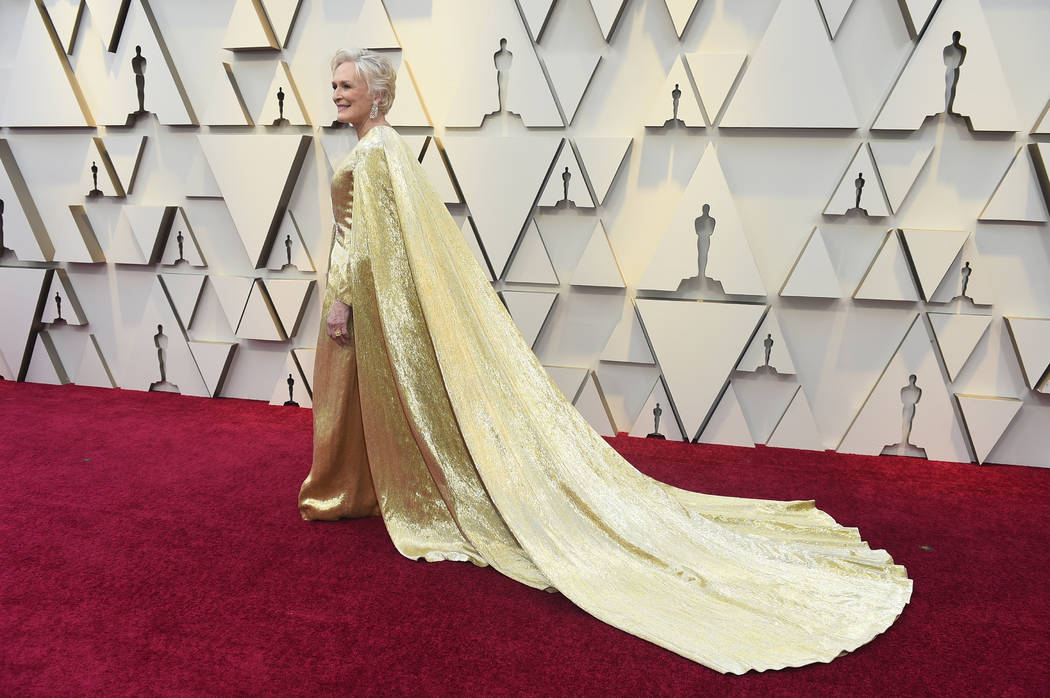 Glenn Close arrives at the Oscars on Sunday, Feb. 24, 2019, at the Dolby Theatre in Los Angeles. (Photo by Jordan Strauss/Invision/AP)