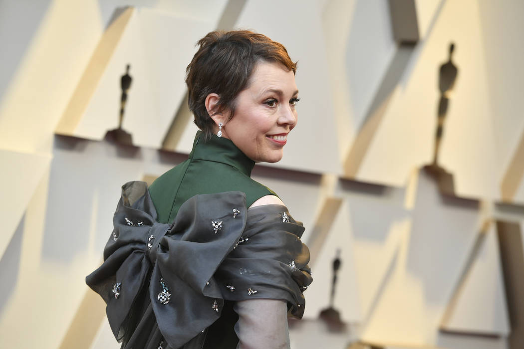 Olivia Colman arrives at the Oscars on Sunday, Feb. 24, 2019, at the Dolby Theatre in Los Angeles. (Photo by Jordan Strauss/Invision/AP)