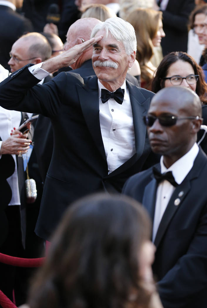 Sam Elliott arrives at the Oscars on Sunday, Feb. 24, 2019, at the Dolby Theatre in Los Angeles. (Photo by Eric Jamison/Invision/AP)