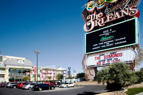 The exterior of The Orleans hotel-casino at 4500 West Tropicana Avenue, in Las Vegas, is shown on Tuesday, Oct. 25, 2011. (Las Vegas Review-Journal file)