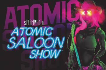 """A promotional shot of """"Atomic Saloon Show,"""" opening in September at Grand Canal Shoppes at the Venetian. (Spiegelworld)"""