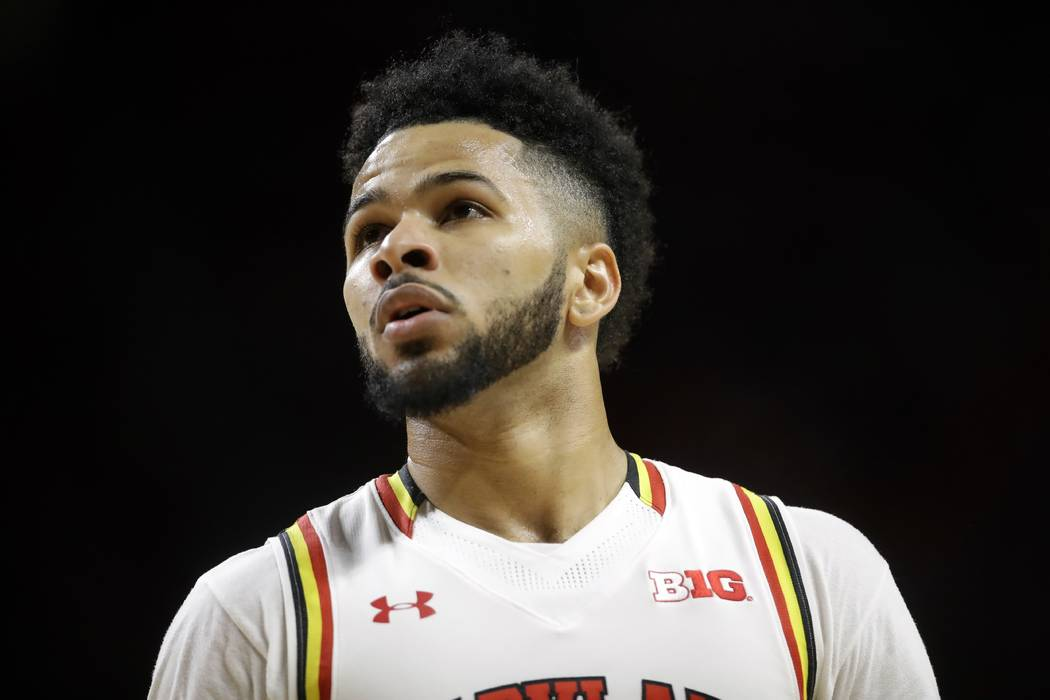 Maryland guard Jaylen Brantley walks on the court in the second half of an NCAA college basketball game against Minnesota, in College Park, Md. on Wednesday, Feb. 22, 2017. (AP Photo/Patrick Semansky)