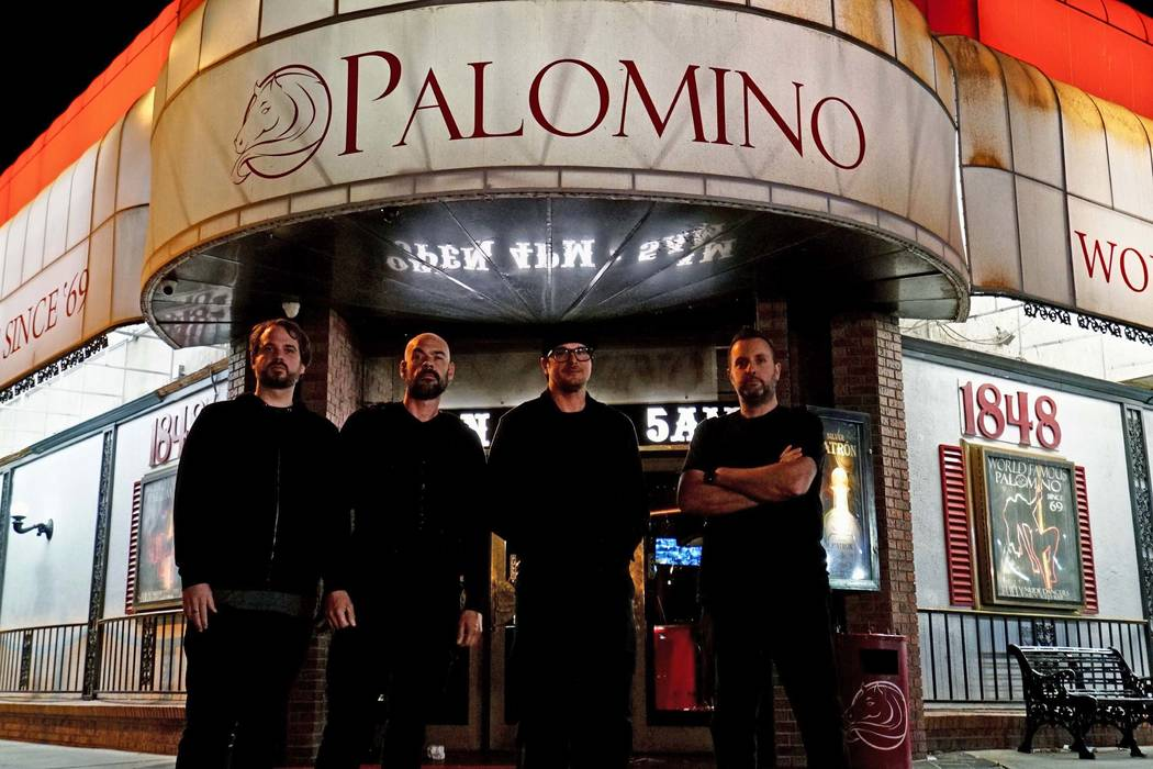 "From left, Jay Wasley, Aaron Goodwin, Zak Bagans and Billy Tolley investigate the Palomino Club in North Las Vegas for ""Ghost Adventures."" (Travel Channel)"