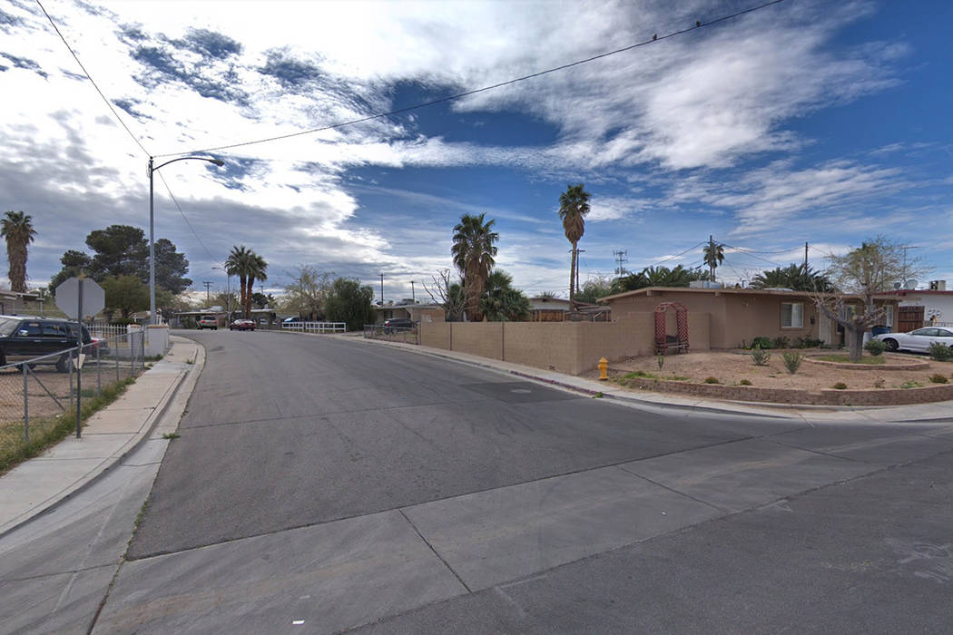 The area of Avondale and Parkdale avenues, near Desert Inn Road and Lamb Boulevard. Google Street View image.