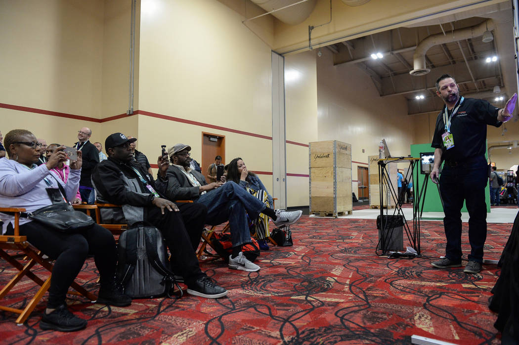 A class is given for Darkroom Software at the Photo Booth Expo at the South Point Hotel and Casino in Las Vegas, Tuesday, Feb. 26, 2019. (Caroline Brehman/Las Vegas Review-Journal) @carolinebrehman