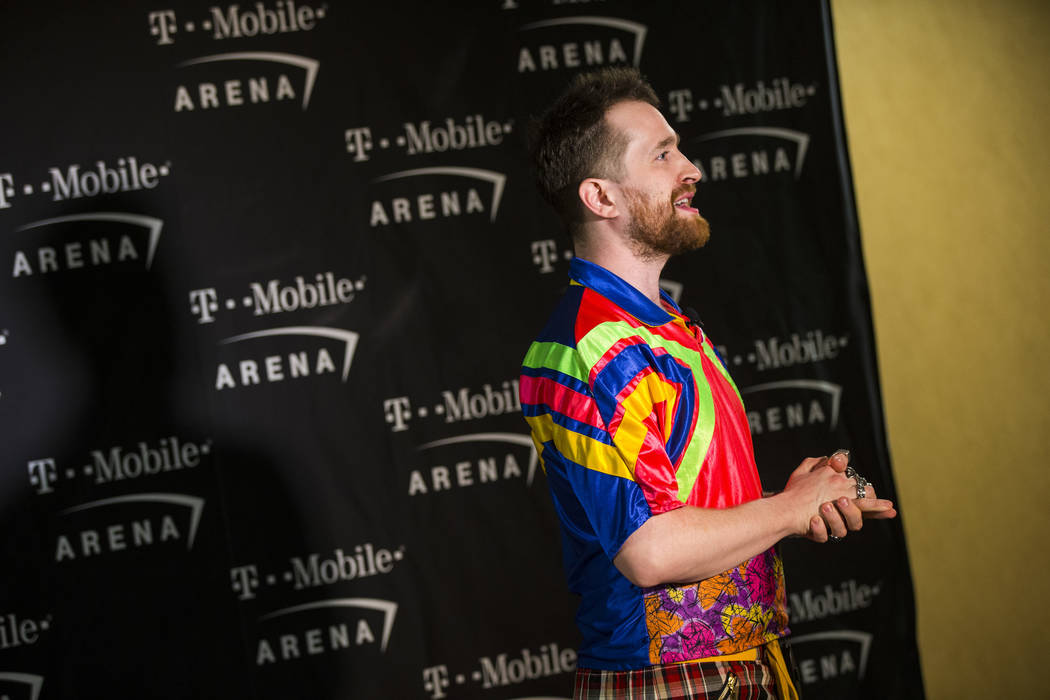 Daniel Platzman of Imagine Dragons talks about the importance of having sensory bags available at T-Mobile Arena in Las Vegas on Tuesday, Feb. 26, 2019. (Chase Stevens/Las Vegas Review-Journal) @c ...