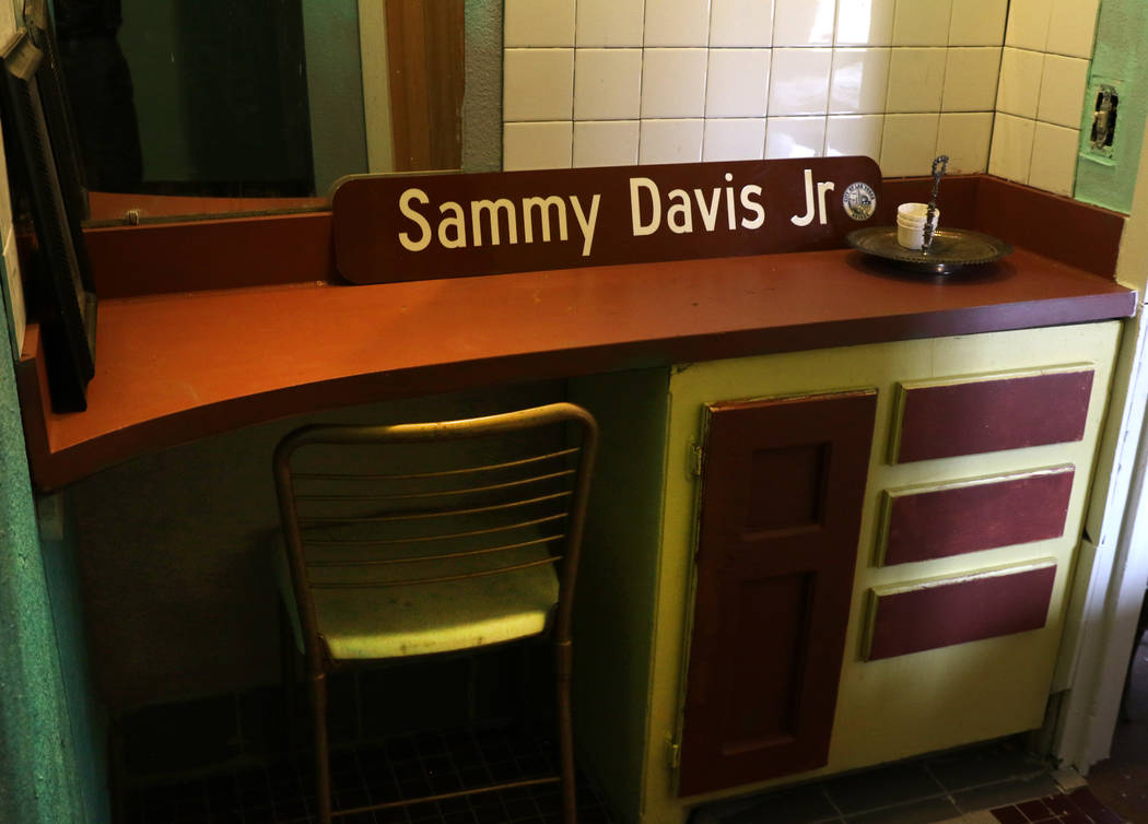 A bathroom at the Harrison Guest House at F Street and West Adams Avenues is seen on Monday, Feb. 25, 2019, in Las Vegas. When segregation barred black entertainers like Sammy Davis Jr., from stay ...