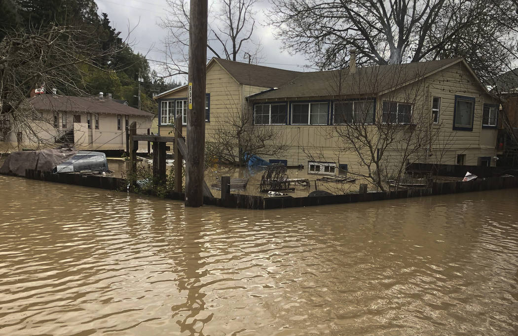 """The small city of Guerneville, California, north of San Francisco, """"is officially an island,"""" with the overflowing Russian River forecast to hit its highest level in about 25 years, the Sonoma Cou ..."""