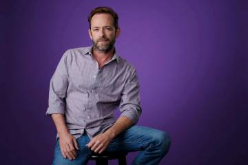 """Luke Perry, a cast member in the CW series """"Riverdale,"""" poses for a portrait during the 2018 Television Critics Association Summer Press Tour, Monday, Aug. 6, 2018, in Beverly Hills, Cal ..."""